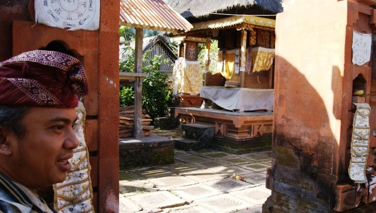 A traditional Bali Aga home.