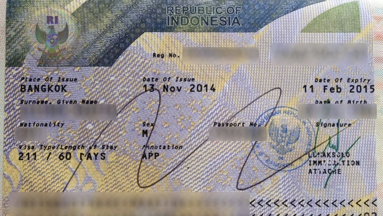 211 Visa Bali