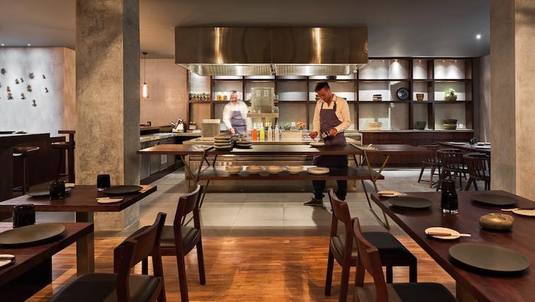 Open plan kitchen at Urchin