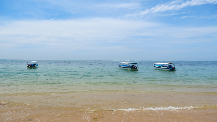 Boats at Sanur Beach Bali