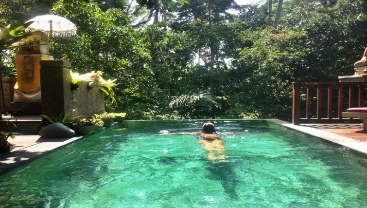 Swimming pool in villa in Ubud